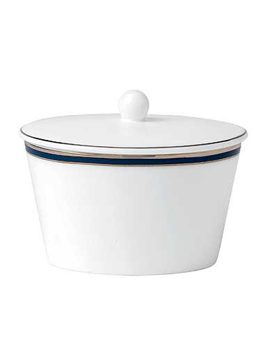 Royal Doulton Signature Blue Covered Sugar, 3 1/2in