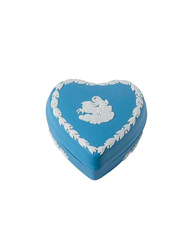 Wedgwood China Blue Jasper Mini Heart Box