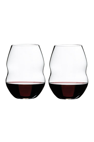 Riedel swirl red wine pair - Riedel swirl white wine glasses ...