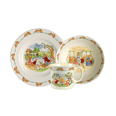 Royal Doulton China Bunnykins 3-Piece Set