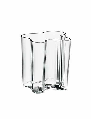 "Iittala Alvar Aalto 7 3/4"" Vase, Clear"