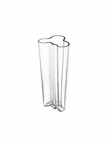 "Iittala Alvar Aalto 10 1/4"" Vase, Clear"