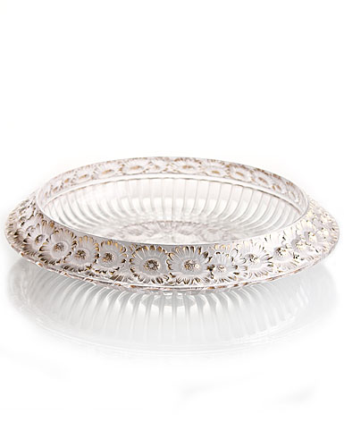 Lalique Marguerites Bowl, Gold - Large, 14in
