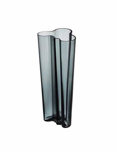 "Iittala Alvar Aalto 10 1/4"" Vase, Dark Grey"