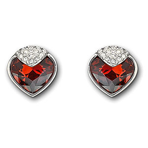 Swarovski Bordeaux Oceanic Pierced Earrings