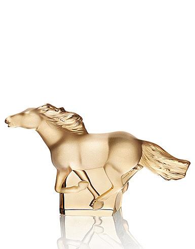 Lalique Kazak Gold Horse Sculpture