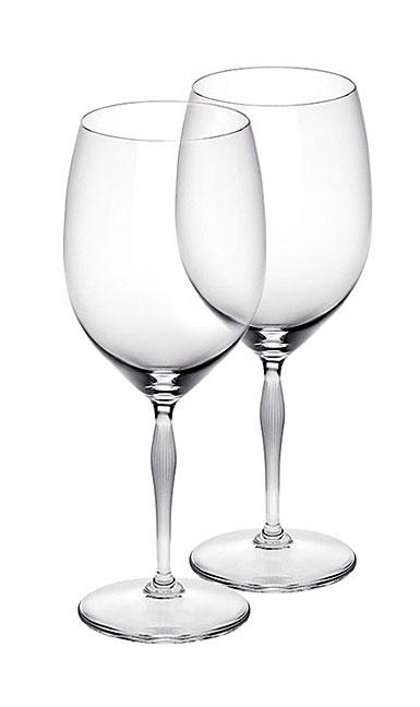 Lalique 100 Points Bordeaux Glasses By James Suckling, Pair