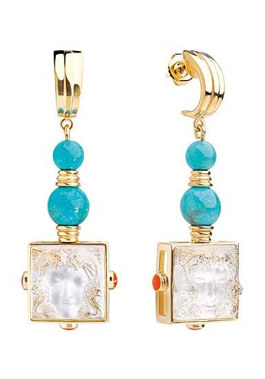 Lalique Arethuse Earrings, Vermeil