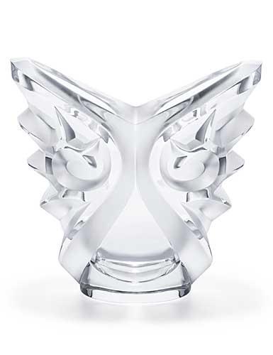Lalique Tourbillons Ovale Vase, Clear
