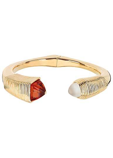 Lalique Charmante Bracelet, Ambre and Vermeil