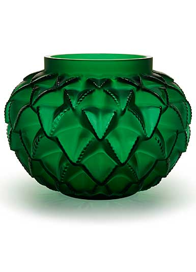 Lalique Languedoc XXL Vase, Green Numbered Edition