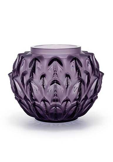 Lalique Cynara Vase, Violet