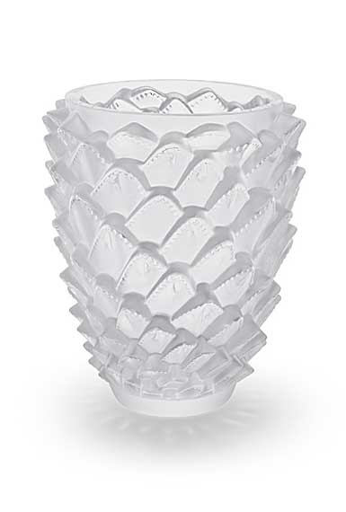 "Lalique Agave 11 7/8"" Vase, Clear"