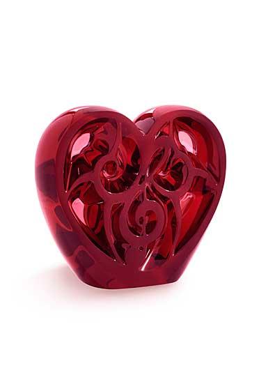 Lalique Elton John Music is Love Heart, Red