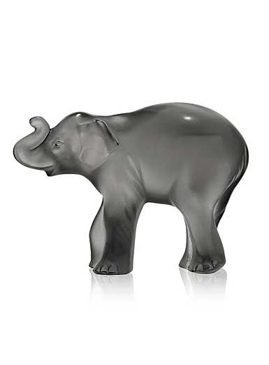 Lalique Timora Elephant, Grey