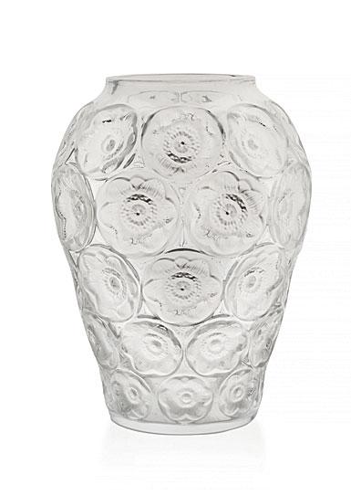 Lalique Anemones Vase, Clear