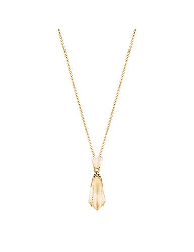 Lalique Sterling Silver Icone Pendant Necklace, Vermeil