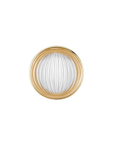 Lalique Vibrante Round Brooch, Vermeil