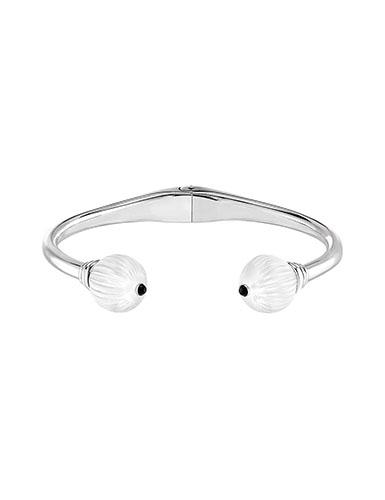 Lalique Sterling Silver Vibrante Bangle Bracelet, Silver