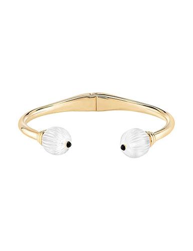 Lalique Sterling Silver Vibrante Bangle Bracelet, Vermeil