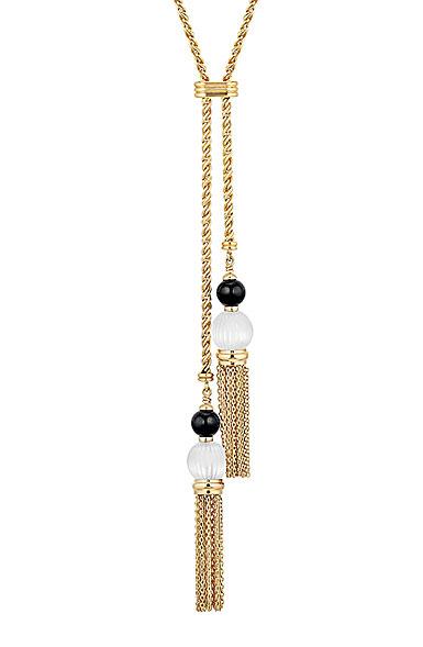 Lalique Vibrante Tassel Necklace, Vermeil