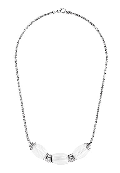 Lalique Vibrante Oval Necklace, Silver