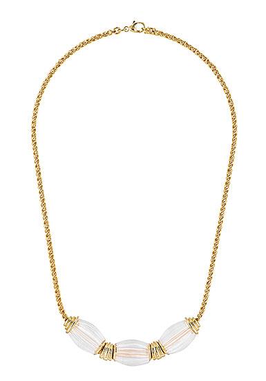 Lalique Vibrante Oval Necklace, Vermeil