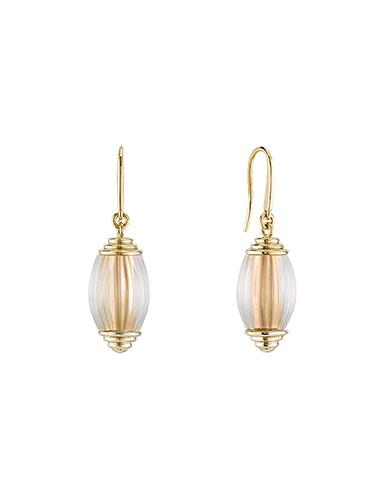 Lalique Vibrante Oval Pin Clasp Earrings, Vermeil