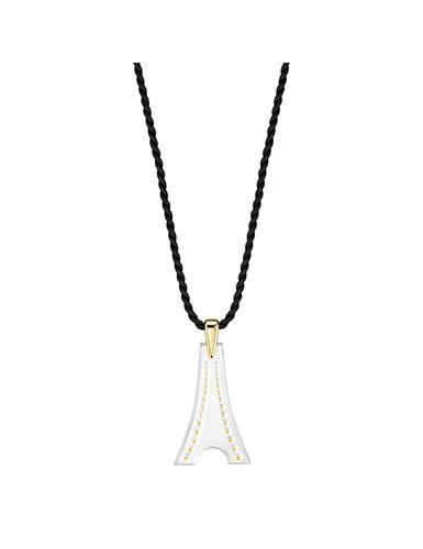 Lalique Tour Eiffel Pendant Necklace, Vermeil