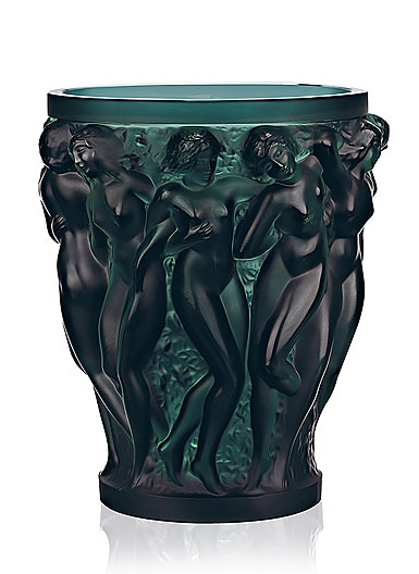 Lalique Bacchantes Vase, Intense Green