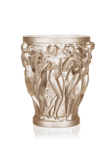 Lalique Bacchantes Small Vase, Gold Luster