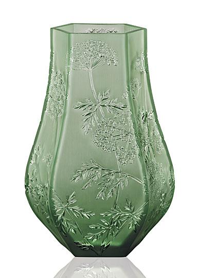 Lalique Ombelles Vase, Green