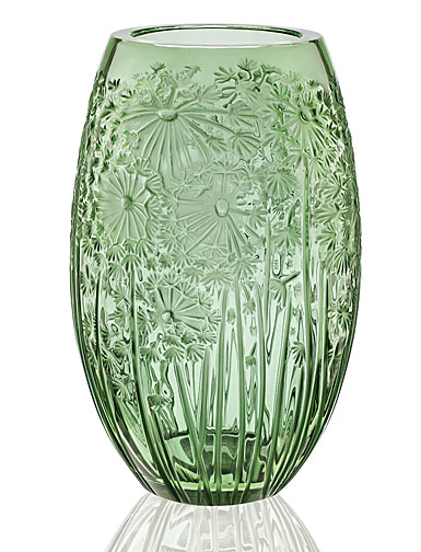 Lalique Bucolique Vase, Green