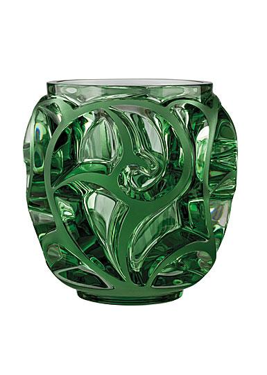 Lalique Tourbillons Small Vase, Light Green