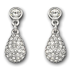 Swarovski Rhodium and Crystal Heloise Pierced Earrings