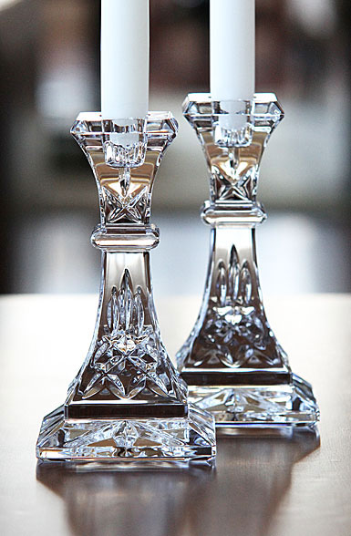 Waterford Lismore 6 candlesticks, pair