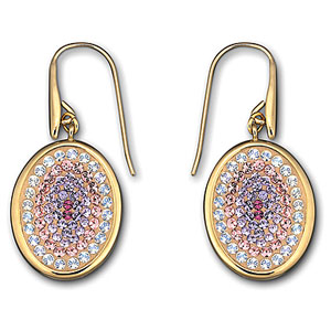 Swarovski Nila Amethyst Gold Plated Pierced Earrings