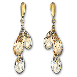 Swarovski Crystal Lagoon Pierced Earrings
