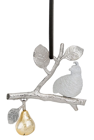 Michael Aram 2017 Partridge in A Pear Tree Ornament