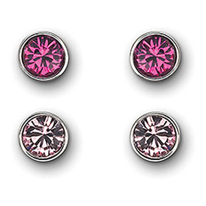 Swarovski Fuchsia Harley Pierced Earrings Set