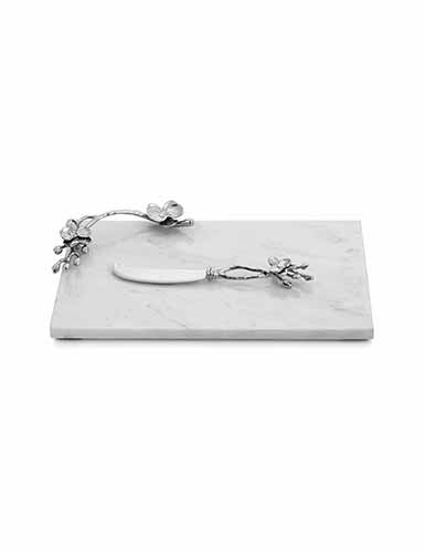 Michael Aram White Orchid Cheese Board with Knife, Small
