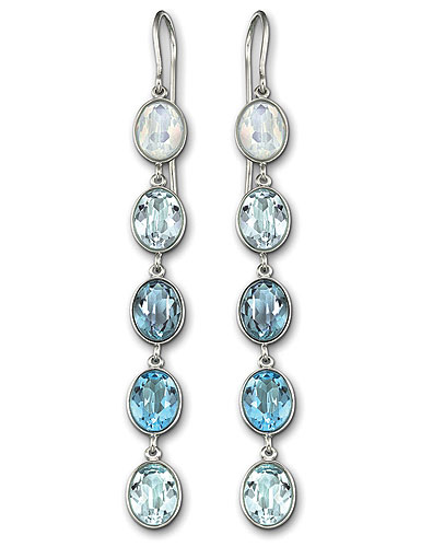 Swarovski Neva Pierced Earrings, Blue