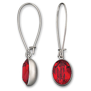 Swarovski Pop Red PierSwarovski Puzzle Light Siam Pierced Earringsced Earrings
