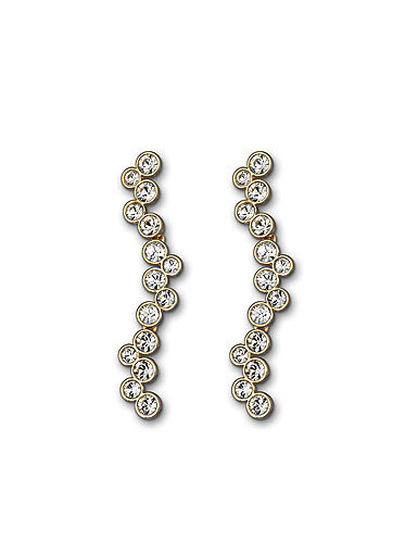 Swarovski Fidelity Pierced Earrings, Shiny Gold