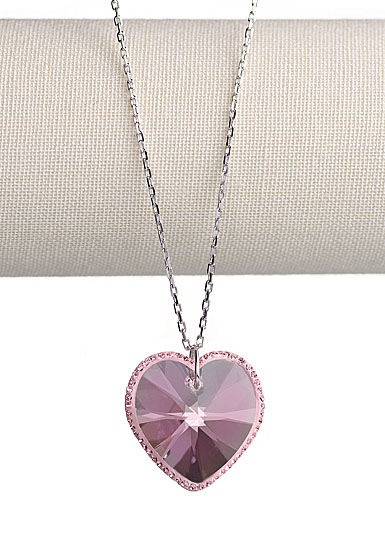 Swarovski Reverie Light Rose Heart Pendant Necklace