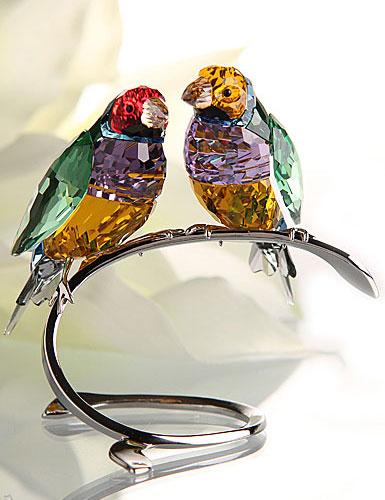 Swarovski Gouldian Peridot Finches