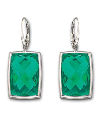 Swarovski Nirvana Pierced Earrings, Emerald