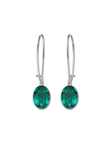 Swarovski Emerald Puzzle Pierced Earrings