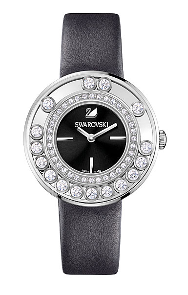 Swarovski lovely crystals anthracite watch for Swarovski crystals watch