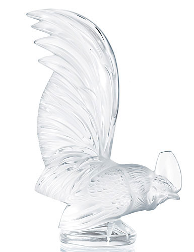 Lalique Rooster Paperweight